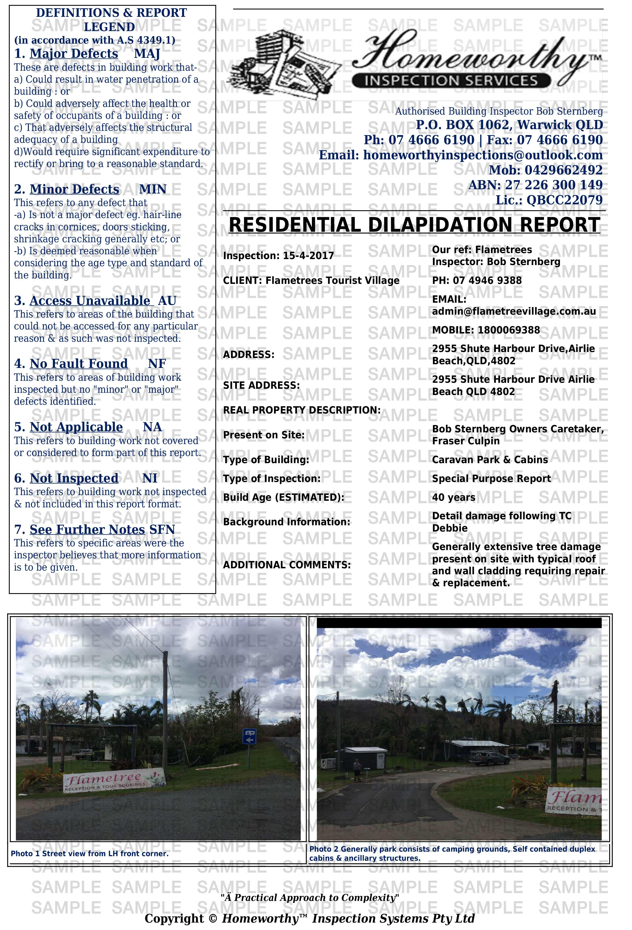 Residential Dilapidation Report
